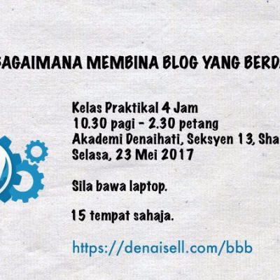 belajar bina blog